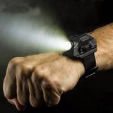 Lanterna Relógio De Pulso Tático Recarregável Com Bussola