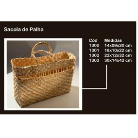 Bolsa Sacola De Praia Feira Palha De Milho Cód 1301