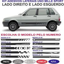 Faixa Lateral Fiat Uno Mille Way Economy 2 Ou 4 Portas