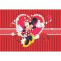 Painel Decorativo Em Lona Minnie Vermelha 2,00x1,40