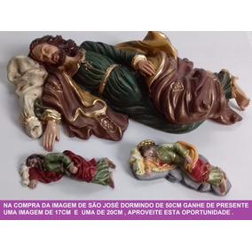 Imagem São José Dormindo 50cm Resina - Ganhe 02 Presentes!