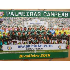Quadro Pôster Palmeiras Brasileirão 2016 E Copa Brasil 2012