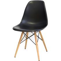 Cadeira Charles Eames Wood Dsw Preta