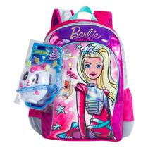 Mochila Infantil Barbie Aventura Nas Estrelas 64738 G Verde