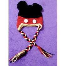 Gorros Tejidos Crochet Niños Mikey Mouse Y Mimi