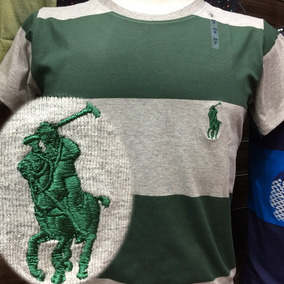 Camiseta Polo Ralph Lauren Gola Careca Algodao Elastano