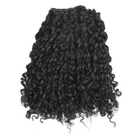 Mega Hair Tela/costurado Cabelo Humano Cacheado Preto