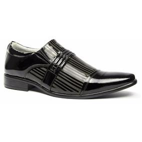 Sapato Social Masculino Luxo Couro Brilhoso Marca Alcalay