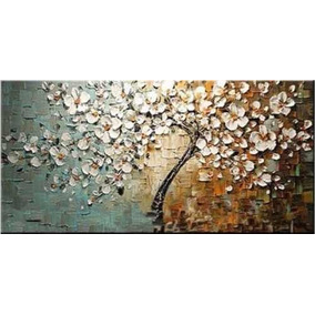 Quadro Pintura Abstrato Moderno 70x140cm Pronto P/ Pendurar