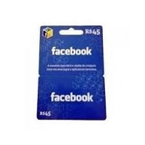 Cartão De Jogo Do Facebook - R$45 - Digital