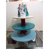 Base Para Ponques Cupcakes Mdf 3 Niveles Frozen Elsa Olaf