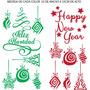 Vinilo Para Vidriera Navidad Año Nuevo Calcos Decorativos
