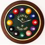 Relógio De Parede Bilhar / Sinuca Em Fibra De Vidro