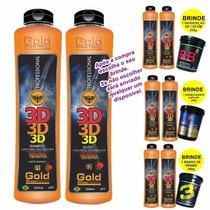 Escova Definitiva 3d 2x1000ml Gold Show Premium + Brinde