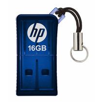 Pen Drive 16gb Hp Usb 2.0 Azul V165w Original Lacrado