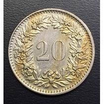 Swi220 Moneda Suiza 20 Rappen 1970 Xf+ Ayff