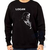 Moletom Gola Redonda Logan Wolverine Filme X-man Blusa Frio