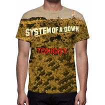 Camisa, Camiseta System Of A Down - Toxicity - Estampa Total