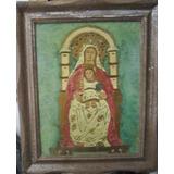 Virgen Del Coromoto, Retablo En Madera Al Oleo