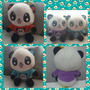 Lindo Y Tierno Panda Emoji Kawaii 20cm X 10cm