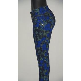 Pantalon Blue Jeans Estampado Dama. Studio F,talla 10