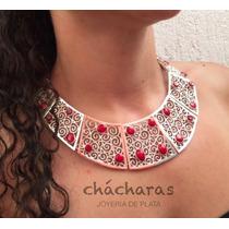 Envío Gratis Collar María Del Mar Coral Rojo Y Plata .925