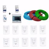 Kit Instalacion Domiciliaria Basica Cables Teclas Termicas