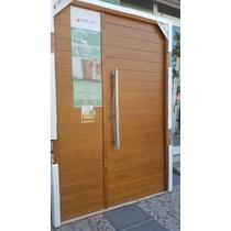 Puerta Y Media Madera Oblak 2331 Ciega Lateral Abrir 140x200