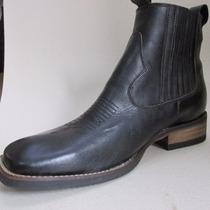 Bota Botina Country Cor Preta Passo Livre Boots Cn Médio 44