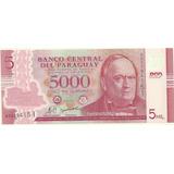 Billete Paraguay Plastico 5000 Guaranies Tren Año 2011