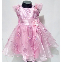 Hermoso Vestido Para Bautizo Para Niña Talla 2 Nuevo