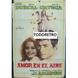 Afiche Amor En El Aire Con Palito Ortega Rocio Durcal 1967