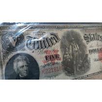Billete De 5 Dolares Serie 1907, Grande