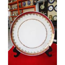 Antiguidade: Prato Porcelana Schmidt Decoração Filete Ouro