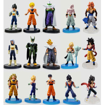 Boneco Dragon Ball Z Goku Vegeta Trunks Gogeta Figure - Cada