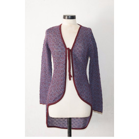 Cardigan Para Mujer Smoking 100% Alpaca Royal