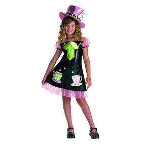 Disfraz De Sombrerero Loco Para Niña Talla L