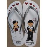Chinelos Personalizados Casamento 15 Anos Etc 20 Pares