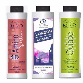 Semi Definitva 4 D + Escova London + Escova De Quiabo