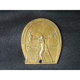 Chapa O Placa De Bronce Antigua 1925 Jockey Club Rosario
