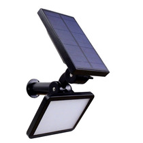 Luminária Solar Parede/jardim-960 Lumens-48 Led-fotovoltaica