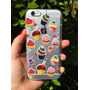 Case Capinha Silicone Iphone 6 6s Cup Cake Doces + Pelicula