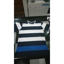 Camiseta Brooskfield Branco Com Azul Tam G 100% Original