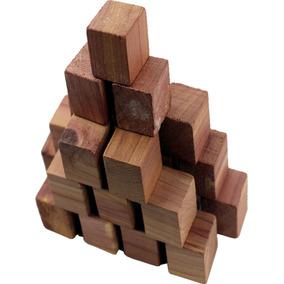 20 (bolinhas) Quadrado De Cedro Natural 3cm - Anti Mofo