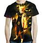 Camisa Anime Camiseta Naruto Kurama E Sasuke - Estampa Total