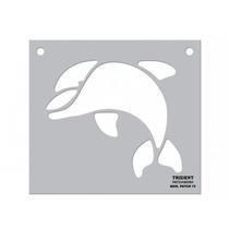 Gabarito Para Patchwork Trident Mod. Patch 15 - Golfinho