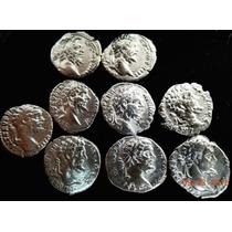 Lote 9 Moedas Antigas Roma Denário Prata Comerciante Coleção