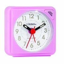 Relógio Despertador Quartz Iluminação Herweg 2570 068 Rosa