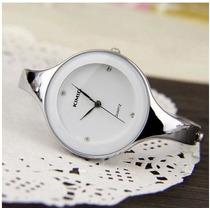 Relógio Bracelete Em Aço Kimio Branco