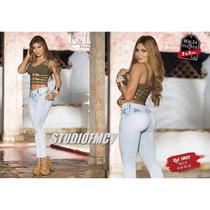 Jeans Pantalon Colombiano Levanta Cola Lyl Control Abdo Dama